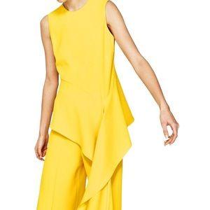 Yellow asymmetric tunic